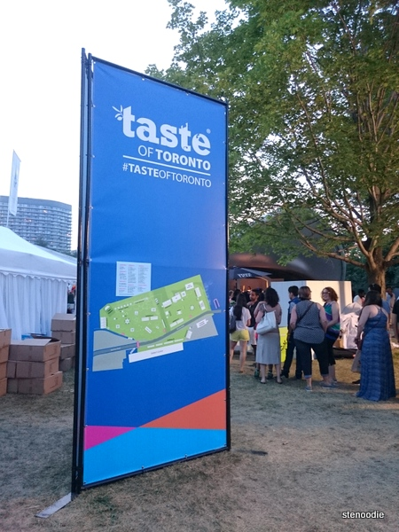 Taste of Toronto sign