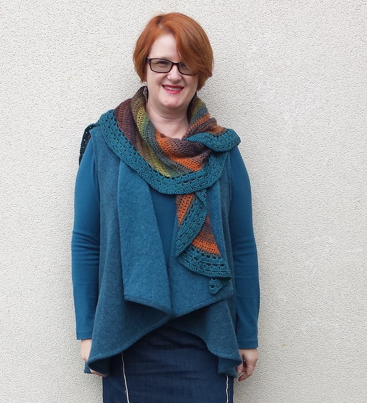 Kwik Sew 3977 vest in boiled wool knit from The Cloth Shop