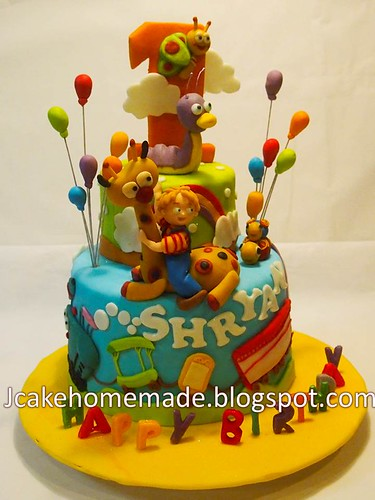 Baby TV birthday cake  Happy 1st birthday Shryan. Thanks Gi ...