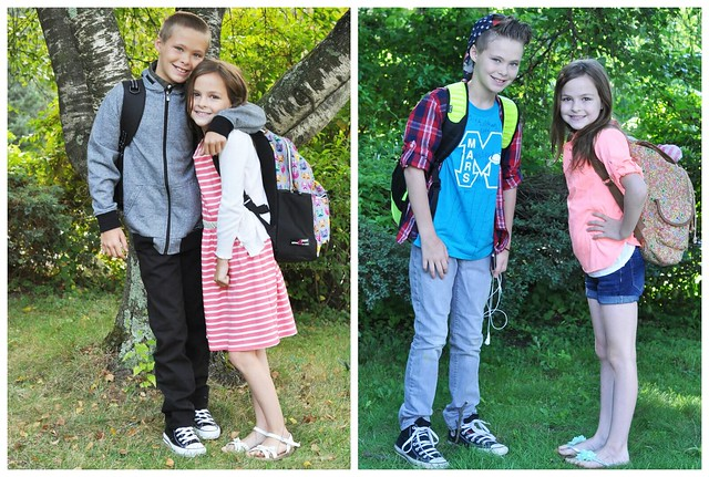 First Day of School and Last Day of School Comparison