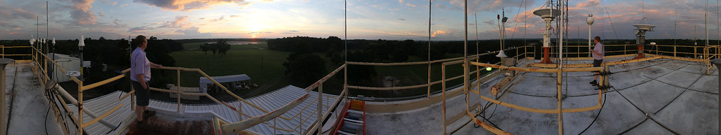 Sunset panorama from the roof
