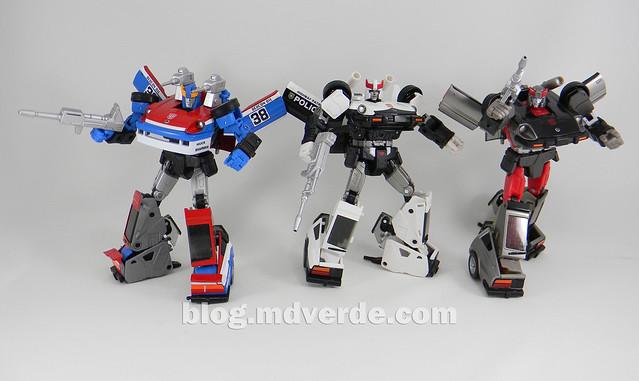 Transformers Smokescreen - Masterpiece - modo robot vs otros Nissan Fairlady Z
