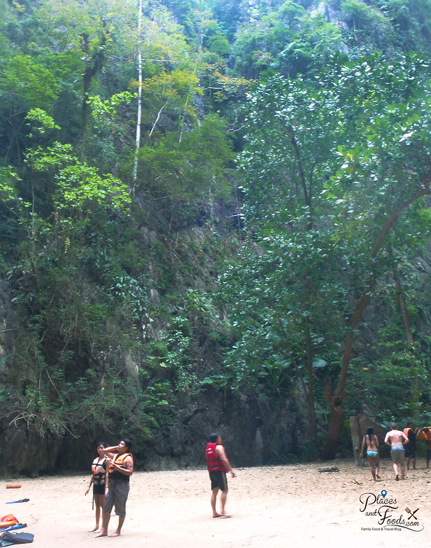 emerald cave trang beach within island view