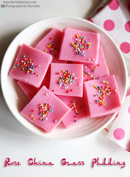 Rose China Grass Pudding Recipe