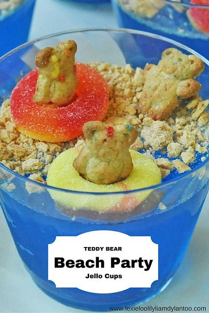 Teddy Bear Beach Party Jello Cups