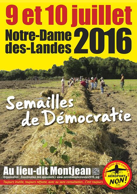#NDL2016 9-10 juillet : Semailles de Démocratie...