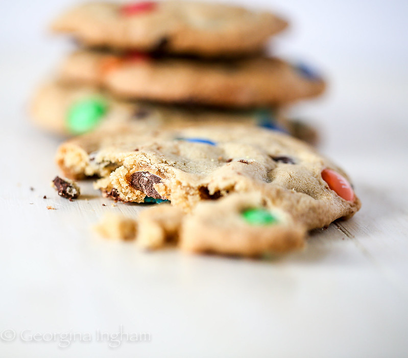 Georgina Ingham | Culinary Travels Gooey, Chewy, Plump, Chocolate Chip and M&M Cookies adapted from The Pioneer Woman