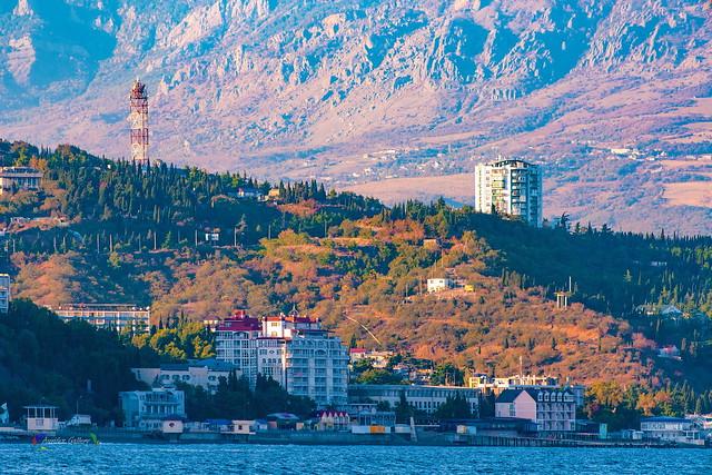 Crimean Coast. Alushta in the evening.