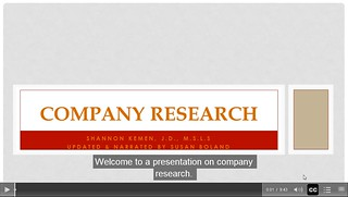 Company Research Video Preview