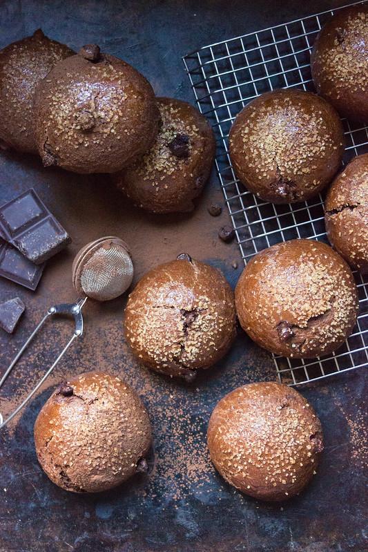 Triple Chocolate Sweet Buns