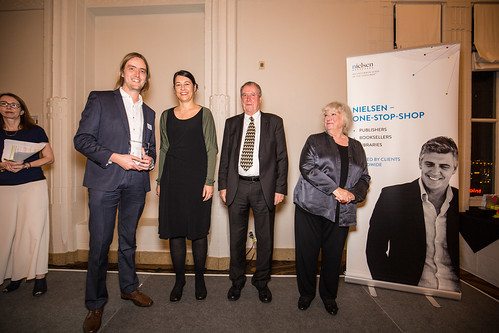 Tom Rennie accepts the Special Award for BWB, with Nevena Nikolic, Tony Harkins and Helen Parsons