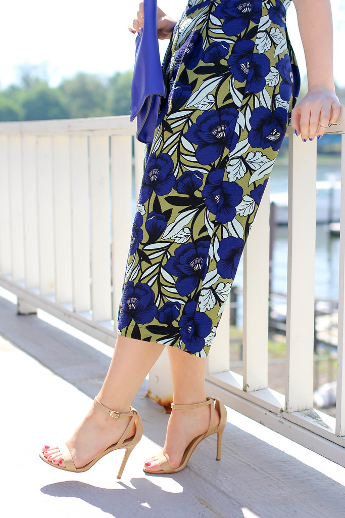 Design Lab Lord & Taylor Blue Floral Print Culotte Romper | Summer Outfit Inspiration | Greenwich Conneticut Harbor Photography | Living After Midnite by Jackie GIardina | Style Blogger