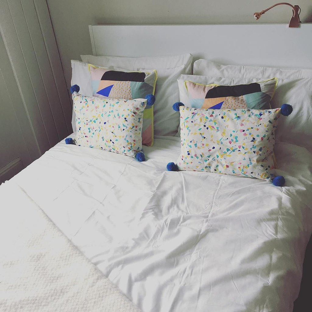 Such a relaxing bed 😊 #bedroom #interiors #newhome #oliverbonas
