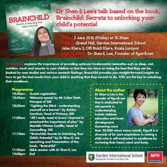 Brainchild book launch at Garden International School...