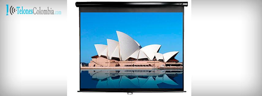 Telón manual para proyector de 244x244 cms
