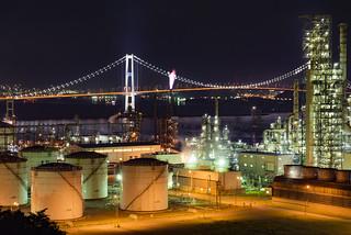 室蘭-工場夜景(国道37号)