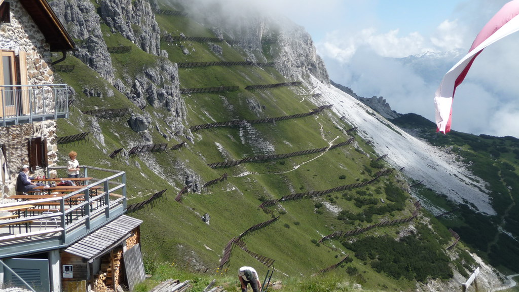 Avalanche fences above Stubaital