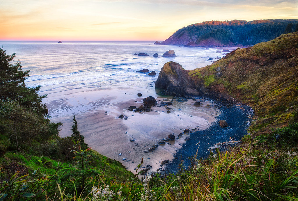 The Oregon Coast from Ecola State Park by Michael Matti