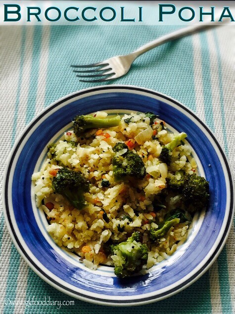 Broccoli Poha Recipe for Babies, Toddlers and Kids