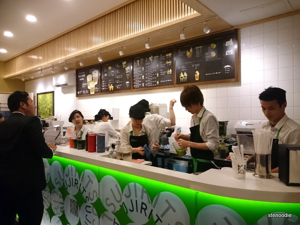 Tsujiri staff at counter