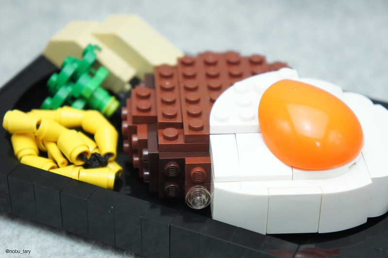 LEGO Food: Hamburger steak with Egg
