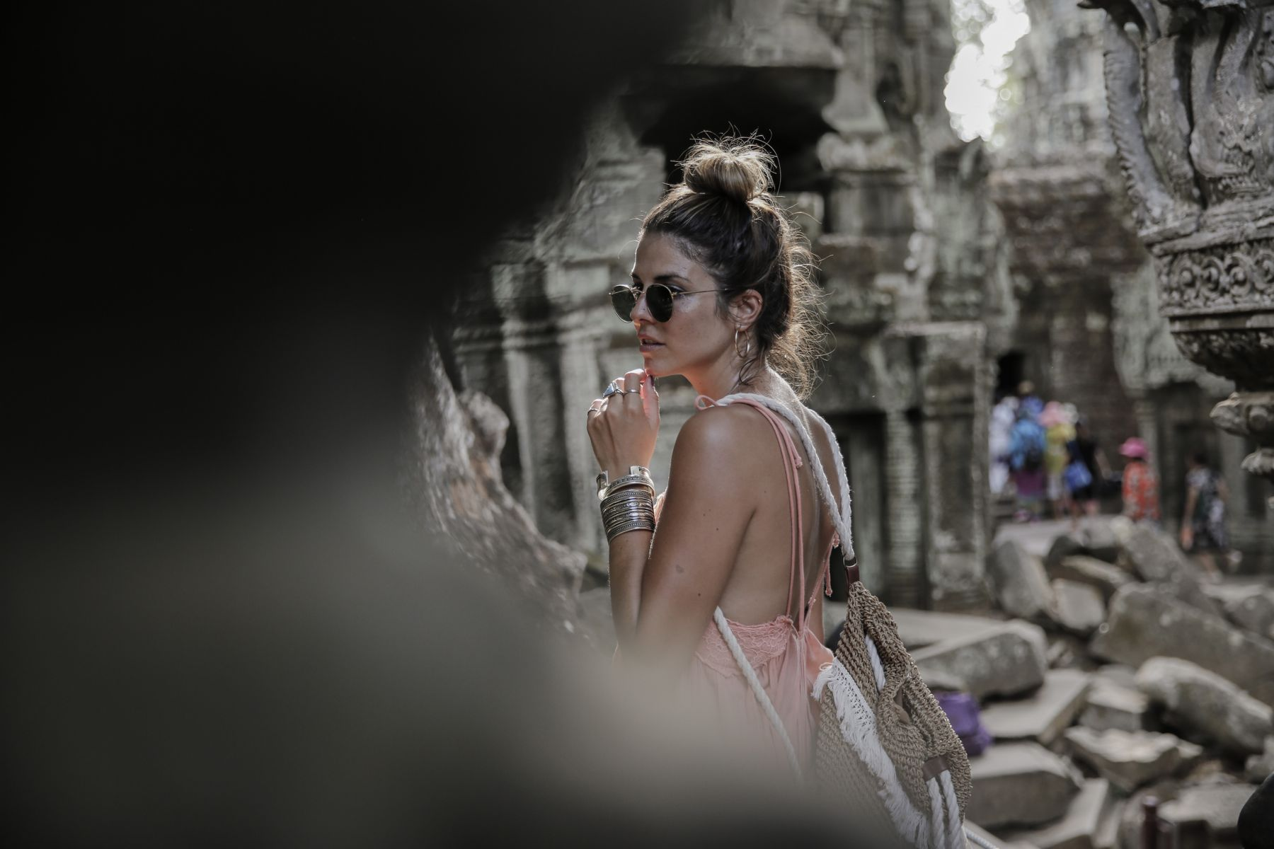 camboya cambodia angkor wat trendy taste summer trip outfit look dress sneakers stan smith vestido zapatillas asos adidas _39