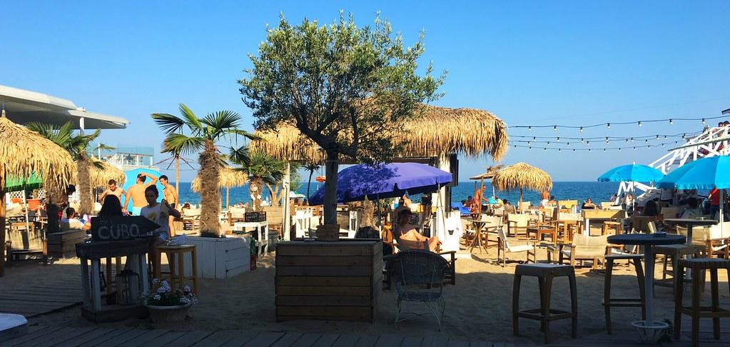 A typical beach in Varna, Bulgaria