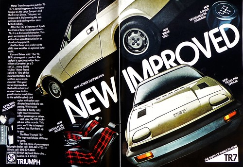 Triumph TR7 1977 Advert