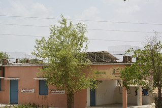 Solar panels on the roof of the primary school at Pipara which provides electricity for pumping water.