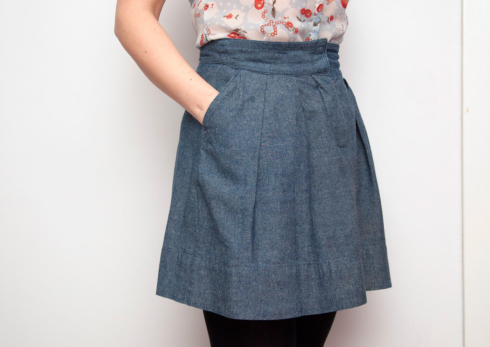 Burdastyle chambray skirt
