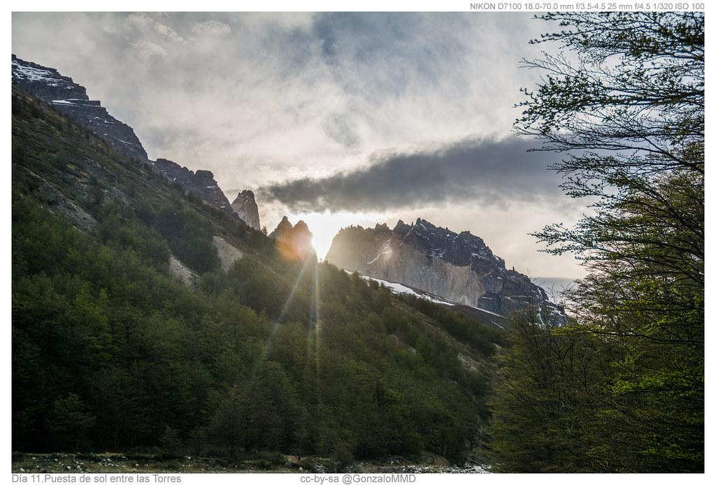 Día 11. Puesta de sol entre las Torres