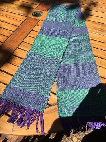 Woven sampler scarf