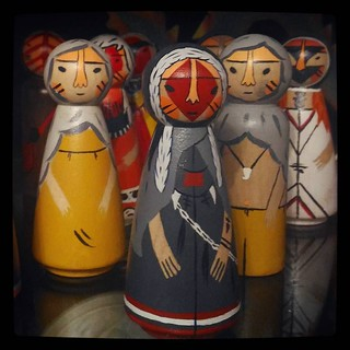 Hinterfolk, original custom doll by artist Jes Hunt and my copies of other characters, for #365days project, 192/365