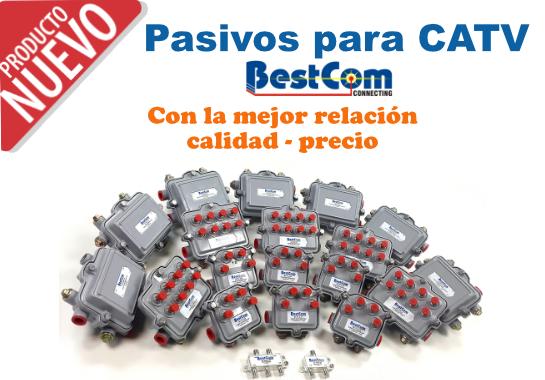 Splitters acopladores direccionales insertoes de poder CATV