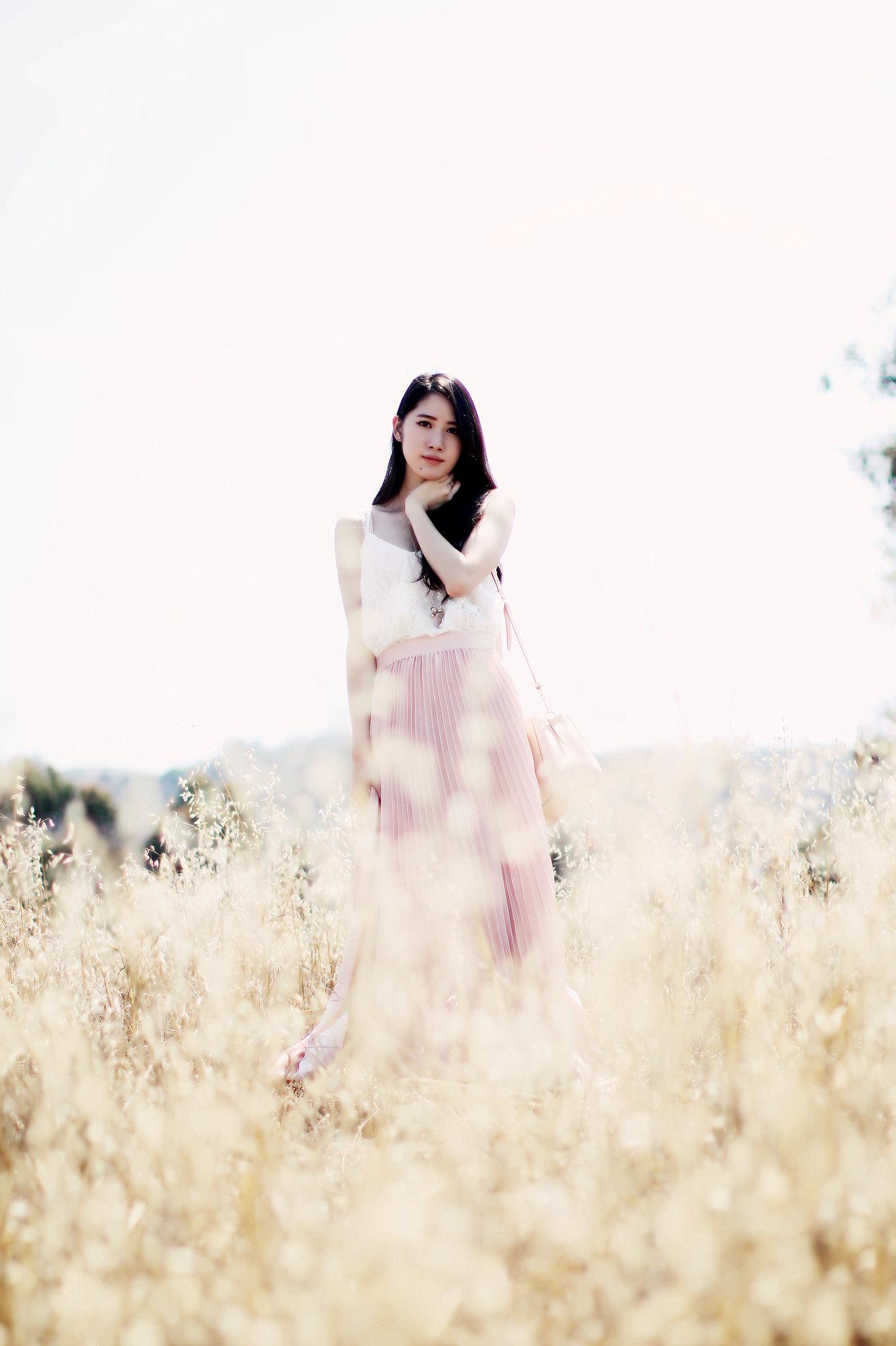 9755-pink-maxi-skirt-korean-fashion