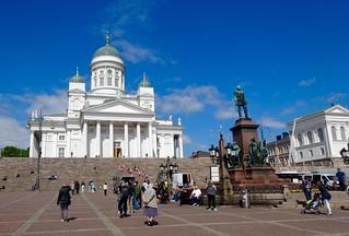 Senaatsplein en Kathedraal van Helsinki