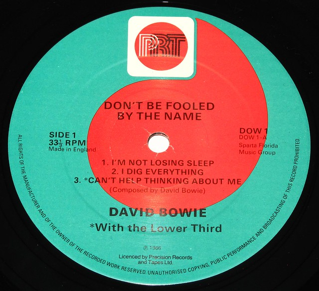 "DAVID BOWIE DON'T BE FOOLED BY THE NAME 10"" EP"