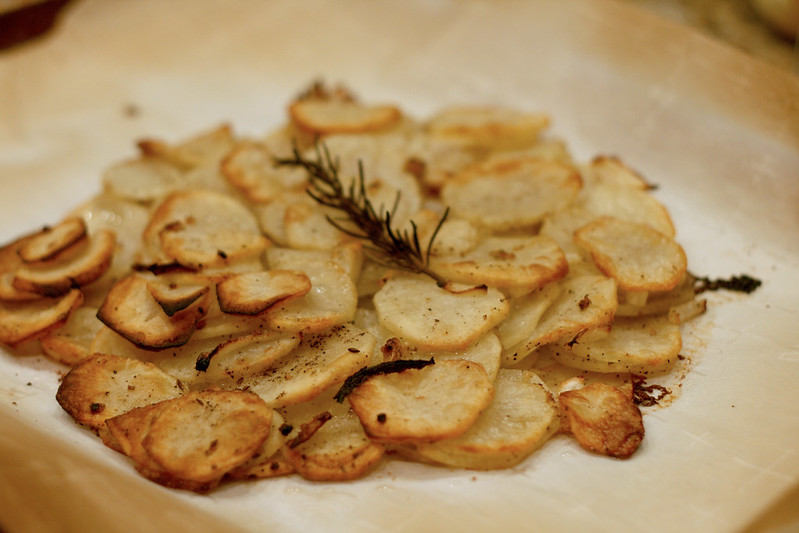 olive oil and rosemary potato galette