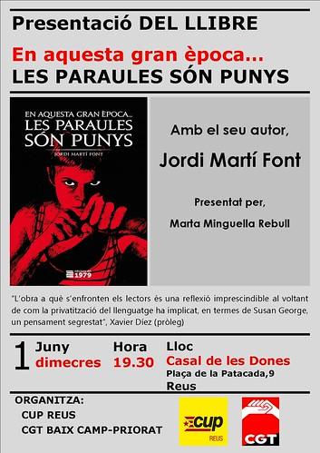 Presentació a Reus 1 de juny