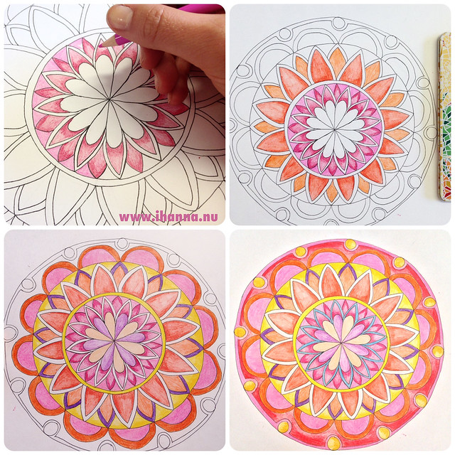How to color a mandala - a blog post full of inspiration by @ihanna #mandalas