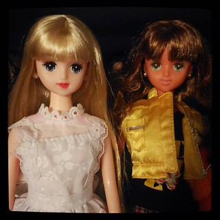 Jenny Friend Annie in 2 color schemes showcases #Takara #dolls appeal. For #365days project, 179/365, from my #collection.
