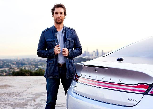 Актер Мэттью Макконахи в рекламе Lincoln, наше время
