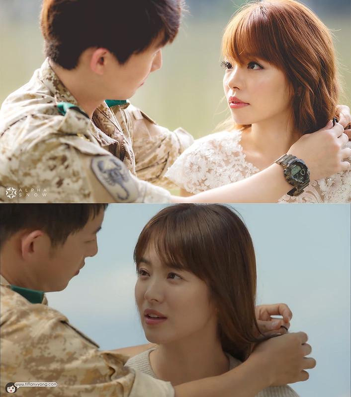 Song Hye-ko Descendants of the Sun Ep10 Tie Hair