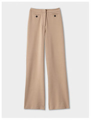 Winser London camel jersey wide leg trousers