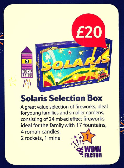 £20 TESCO PRICE - Solaris Selection Box by Standard Fireworks