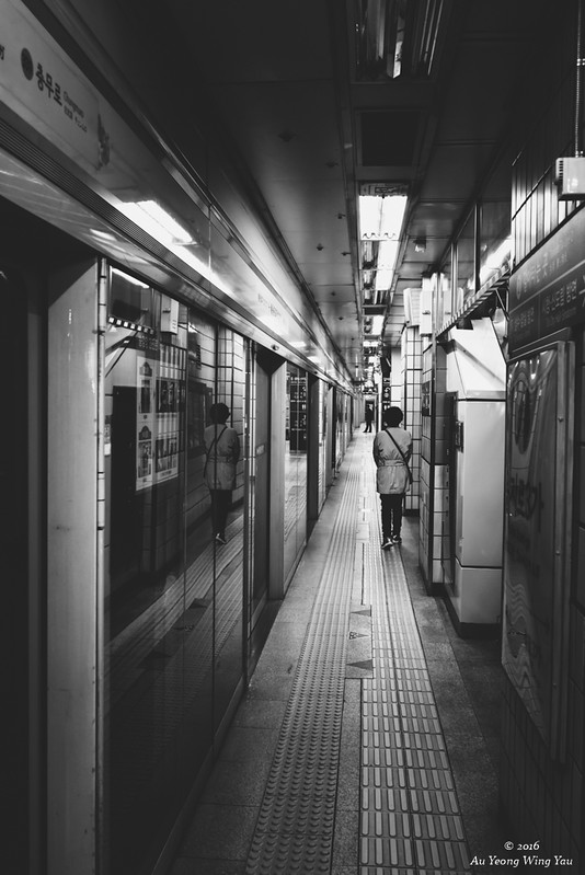 Seoul Subway: Narrow Platform