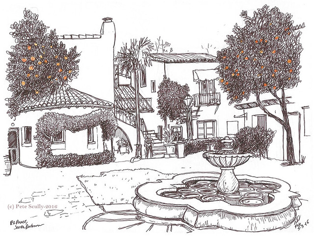 El Paseo Santa Barbara courtyard sm