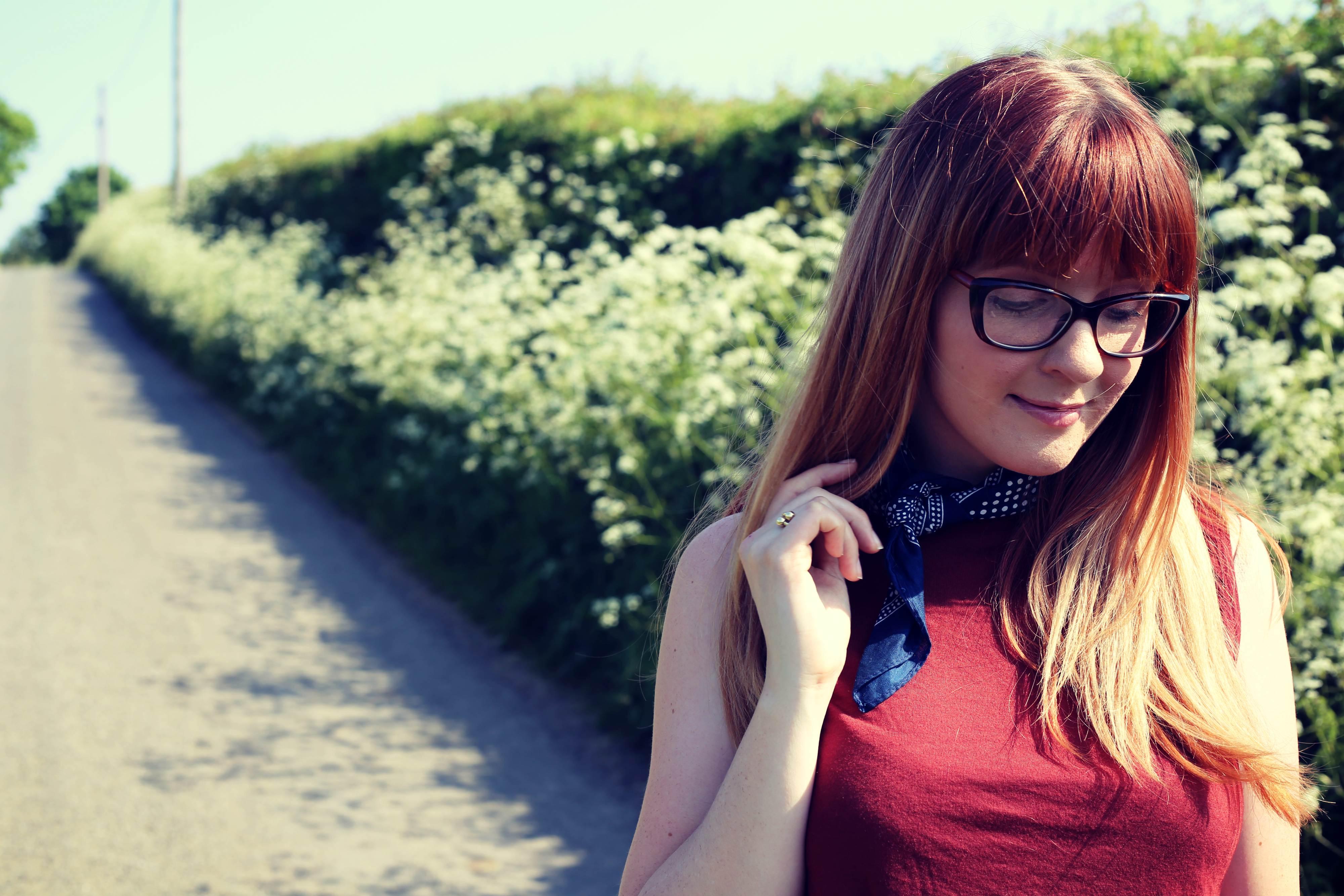 redhead style blogger