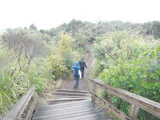 Nadine and Kelsea on Rangitoto Crater Rim Track