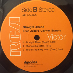 BRIAN AUGER'S OBLIVION EXPRESS:STRAIGHT AHEAD(LABEL SIDE-B)